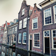 Stock Photo: Street in historic Delft, Holland