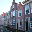 Street in historic Delft, Holland - Stock Photo