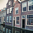 Street in historic Delft, Holland — Stock Photo