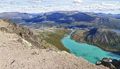The lake Gjende in Norway — Stock Photo