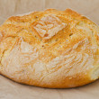 Stock Photo: Large round breads closeup photo