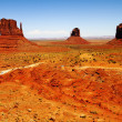 The three sisters, monument valley - Stock Photo