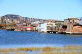 A community on the water in Sausalito — Stock Photo