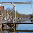 Stock Photo: Edam bridgle over canal