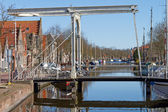 Edam bridgle over canal — Stock Photo