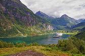 Geiranger fiord — Stock Photo
