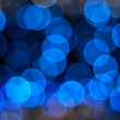 Blue lights defocused - Stock Photo