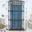 Old blue window - Stock Photo
