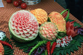 Fruit carving — Stock Photo