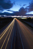 Highway light tails — Stock Photo