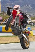 Spanish championship of supermotard — Stock Photo