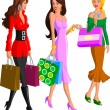 Shopping Women — Stock Vector