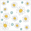 Vector abstract daisy background — Stock Vector