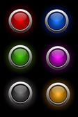 Vector set of neon glass buttons — Stock Vector
