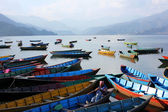 Transportation on pokhara Lake, Nepal — Stock Photo