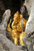 Golden Statue of Ganesha, Hindu Temple at Dutch bay, Sri Lanka — Stock Photo