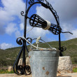 Old Italian well, Ionian island of Zante — Stock Photo