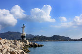 Small Lighthouse at Zakynthos Port, Greece — Stock Photo