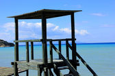 Lifeguard's watchtower, Tsilivi beach, Zakynthos — Stock Photo