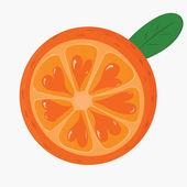 An orange — Stock Vector