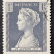 Monaco 1F Grace Kelly Stamp — Stock Photo