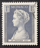 Monaco 1F Grace Kelly Stamp — Стоковое фото