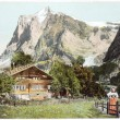 Swiss Alps Postcard — Stock Photo