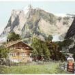 Swiss Alps Postcard — Stock Photo