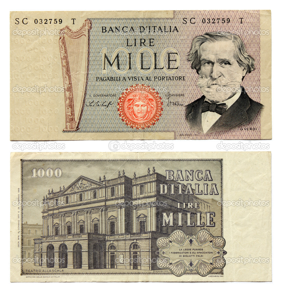 Old Money Notes Old Italian Currency Notes