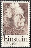 USA 15c Einstein Stamp — Stock Photo