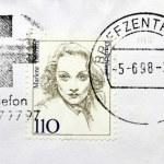 Постер, плакат: Marlene Dietrich Stamp
