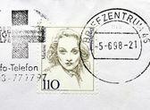 Marlene Dietrich Stamp — Stock fotografie