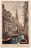 Hamburg Postcard — Stock Photo