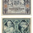 Old German Money - Stock Photo