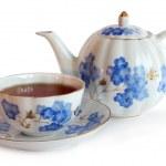 Чайник и Кап чая — Стоковое фото