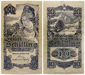 Old Austrian Money — Stock Photo