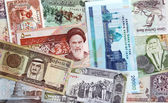 Money of Persian Gulf Countries — Stock Photo