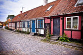 Red house on the island of Bornholm — Stock Photo