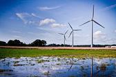 Windmill generator on the island of Bornholm — Stock Photo