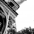 Eiffel Tower Black and White — Stock Photo