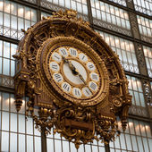 Baroque-style wall clock. Photographed in Paris — Stock Photo