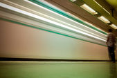 Wake of a subway train — Stock Photo