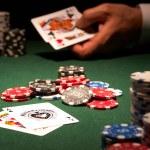 The winning hand backjack casino card game — Stock Photo #10064654