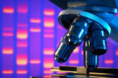 Close up of laboratory microscope — Foto de Stock