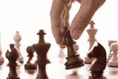 象棋游戏黑女王研究进展 — 图库照片