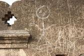 Pared con inscripciones — Foto de Stock
