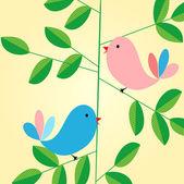 Birdies — Stock Vector