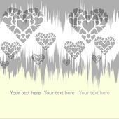 Background with hearts6 — Stock Vector