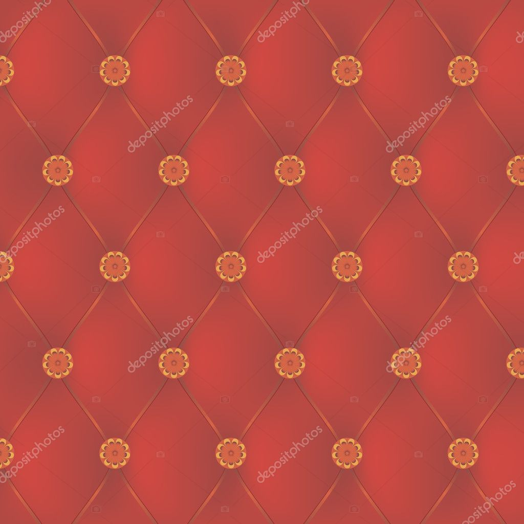 Red leather interior with decorative nails — Stock Vector #10656981