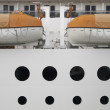 Side of a boat detail — Stock Photo